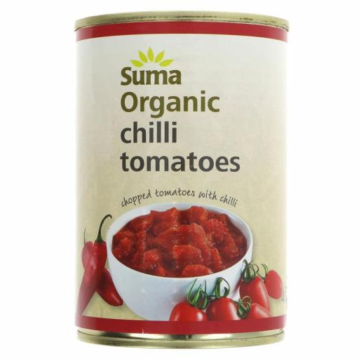 Tomatoes, Tinned Chopped with Chilli